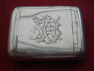 Solid Sterling Silver English Hallmarked Birmingham 1914 Snuff Box Or Pill Box