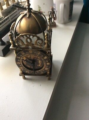 Vintage Nell Gwynn Brass Wind-up Ornate Carriage/ Mantle CLOCK  spares/repair