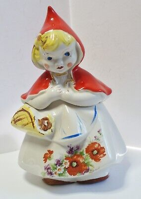 Hull Ware Little Red Riding Hood Cookie Jar 967 Usa
