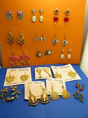 Vintage wholesale lot of Hand Crafted Jewelry lots Art Nouveau Style Earrings 22