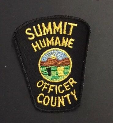 Summit County, Ohio Human Officer Police Patch