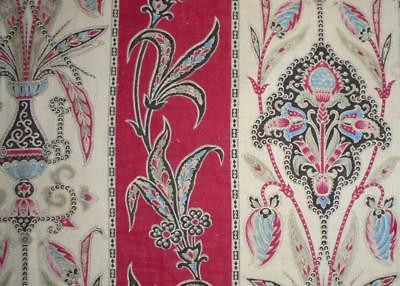 NEW AUTUMN STOCK, BEAUTIFUL 19th CENTURY FRENCH BLOCK PRINT INDIENNE c1850s 284