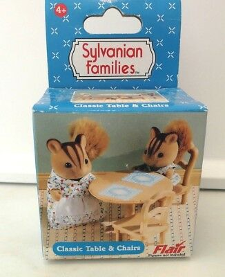 Sylvanian Classic Table And Chairs - New In Box