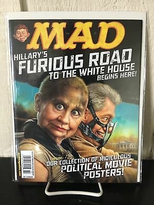 No Label MAD Magazine HILLARY'S FURIOUS ROAD TO WHITE HOUSE Mad Max MAD POSTERS