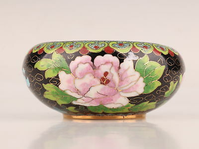 Rare Cloisonne Unique Stylish Ashtray Hand-Carved Floral Collection