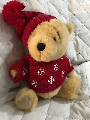 Boyd's Bear Winnie The Pooh Poseable Plush - Collectors Winter Christmas Sweater
