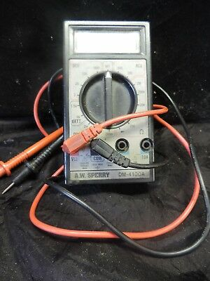 Aw Sperry Electric Tester D M 4100 A