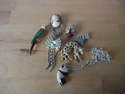 Job Lot of 7 Mostly Vintage Jewellery for Repair, Harvest or Wear