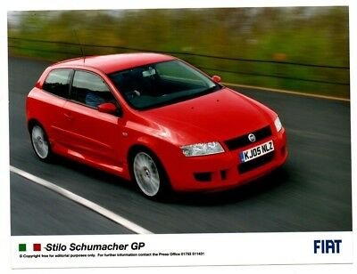 Fiat Stilo Schumacher GP Original Foto Press Photograph Mint Condition 2005