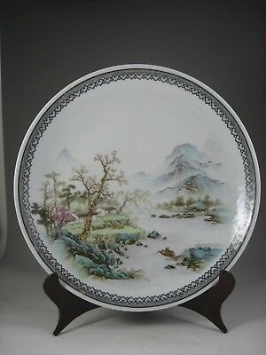 A Magnificent 20th Century Chinese Famille Verte Charger, Marked