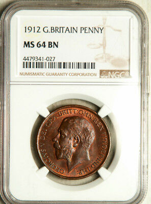 Ngc Ms-64 Great Britain 1 Penny 1912