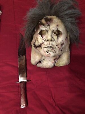 Halloween 2 Rob Zombie Mask.Rob Zombie Halloween 2 H2 Mask Revolver Carver Myers Bowie Knife Dela Torre