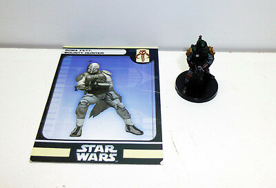 1 seltene Star Wars Miniatures Figur Boba Fett, Bounty Hunter 19/60 + Karte