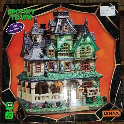 Halloween Lemax Spooky Town Haunted Mansion 2017 MIB Retired 75173