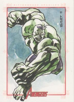 Marvels Greatest Heroes 2012 Color Sketch Card by Artist Unknown - Hulk