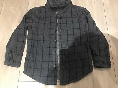 Boys 18-24 Months Marks And Spencer Grey And Black Checked Shirt