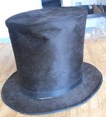 Antique Beaver G.W.Blodgett N.H.Stove Top Mens Top Hat