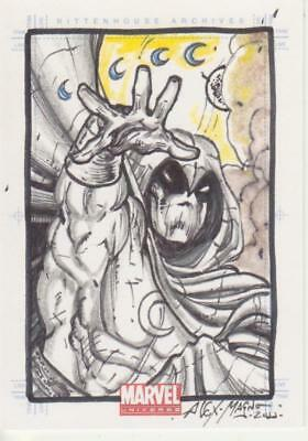 Marvel Universe 2011 -  Color Sketch Card by Magno - Moon Knight