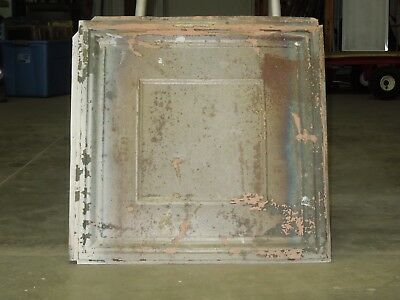 """Old Antique ( Metal )  tin ceiling tile  24""""x 24""""  magnet board ? canvas ?"""