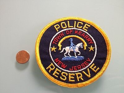 Vintage TOWN OF KEARNY New Jersey POLICE RESERVE PATCH unused RARE sew on