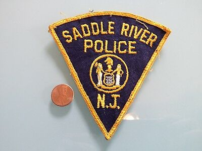 Vintage SADDLE RIVER New Jersey POLICE PATCH used RARE sew on