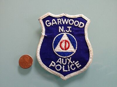 Vintage GARWOOD New Jersey AUXILIARY POLICE PATCH used RARE sew on