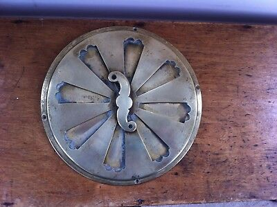 DECORATIVE GOOD QUALITY HEAVY ANTIQUE CIRCULAR BRASS VENT  8.5 inches