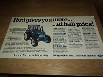 Ford Series Tractor Fold Out Brochure All Models (Massey Ferguson)
