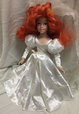 "Disney Little Mermaid Ariel Porcelain Doll 16"" Wedding"