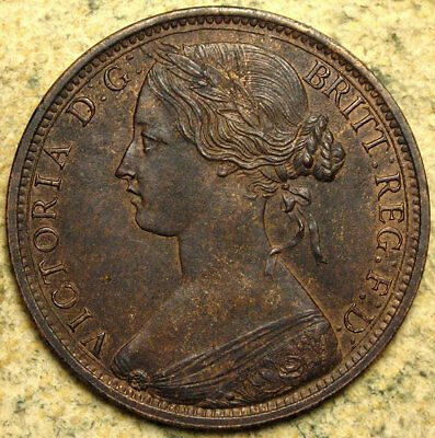 Great Britain: 1862 Queen Victoria Bun-Head Bronze Penny