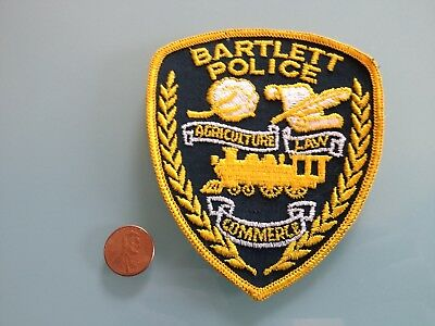 Vintage BARTLETT Tennessee POLICE PATCH unused RARE sew on