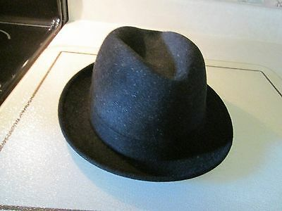Vintage Black Premier Knox Fifth Ave. New York Men s Fedora Fur Felt Hat 7 4089bfaed1fc