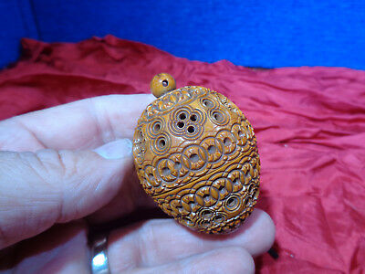 ~*~ESTATE FIND~*~  Vintage Sewing Thimble Holder with Stanhope  #7