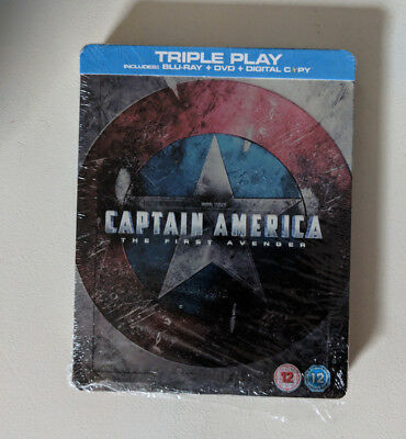 Marvel Captain America blu ray DVD Steelbook. Rare