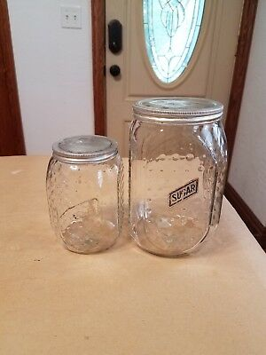 Hobnail Sugar & Other Container for Hoosier or Sellers Cabinet