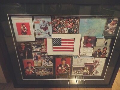 CAMMI GRANATO ice hockey collage/1998 Olympic gold medal game,Nagano,5 signed...