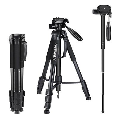 "Neewer Portable 70"" Aluminum Alloy Camera Tripod Monopod for Canon Nikon Sony"