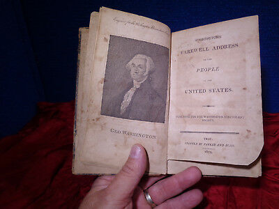 1812 Book Of George Washington's Farewell Address To The People