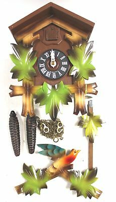 Hand Carved German HUBERT HERR Black Forest Complete CUCKOO CLOCK  - L38