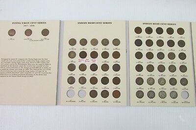Near Complete Flying Eagle and Indian Head Cent Collection -M-