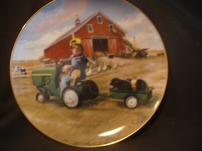 Tractor Ride John Deere Little Farmhands Danbury Limited Edition Collector Plate