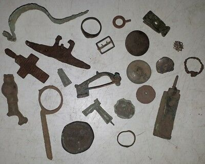 Lot of 22 Artifacts, Ancient, Roman, Medieval, Old, Metal Detector Finds, Europe