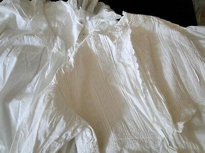 Two Victorian, Edwardian Nightdresses W/ Broderie Anglaise,whitework