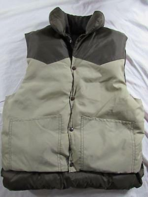 Vtg NOS 70s Mountain Cork USA Made 2 Tone Western Vest Puffer Puffy Rockabilly