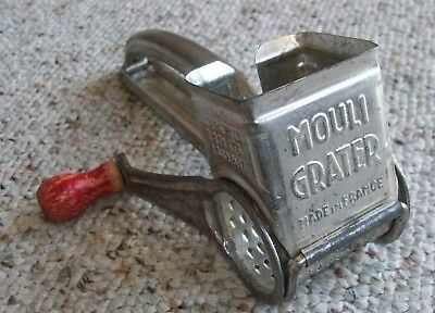 Vintage Metal Cheese and Nut Grinder / Grater Mouli Grater Made in France