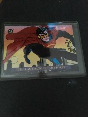 DC Bloodlines Embossed S3 of 4 The Last Son of Krypton Non Sports Card Superman