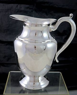 Vintage BIRKS PRIMROSE PLATE Silverplate WATER PITCHER W/ICE GUARD