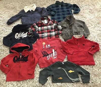 Toddler Boy Winter Carters Old Navy Oshkosh 9pc Lot Sz 4t 4 Years GUC New