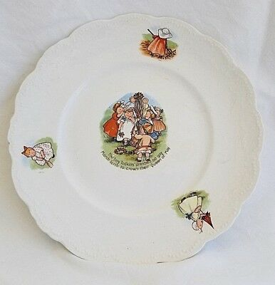 """Royal Baby Plate Tiny Todkins Dressed So Gay Crown the Queen of May 8.25"""" Plate"""