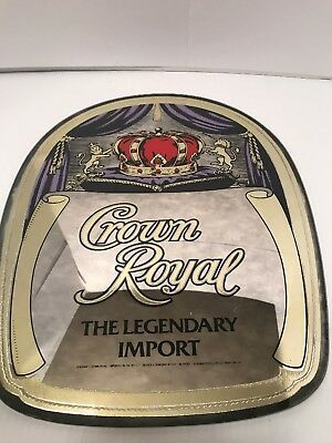 Vintage Crown Royal Mirrored Sign. Very Unique.